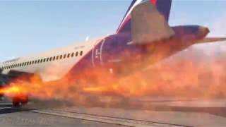 Russian Plane Aeroflot superjet 100 On Fire During An Emergency Landing, Sheremetyevo Airport [XP11]