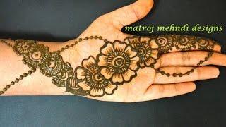 easy simple beautiful floral mehndi henna designs for hands|Matroj Mehndi Designs|Design-5