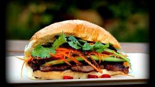 Vietnamese Grilled Pork Chop Sandwich Recipe - Bánh Mì Thịt Nướng
