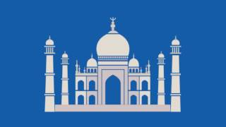 Taj Mahal India Blue Screen - Green Screen Footage