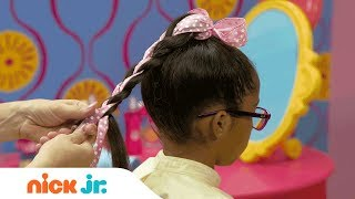 How to Create an Adorable Ponytail 🎀 Style Files Hair Tutorial | Sunny Day | Nick Jr