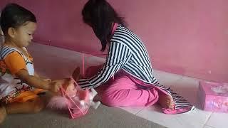 unboxing mainan anak swing angel doll