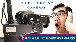 Ghost Hunting Camera from Amazon?! Ancter 4K Full Spectrum Camcorder with IR Night Vision!