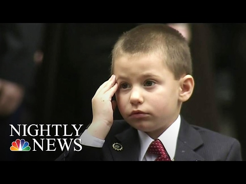 Xxx Mp4 New York Cop's 4 Year Old Son Gives Heartbreaking Salute At Funeral NBC Nightly News 3gp Sex
