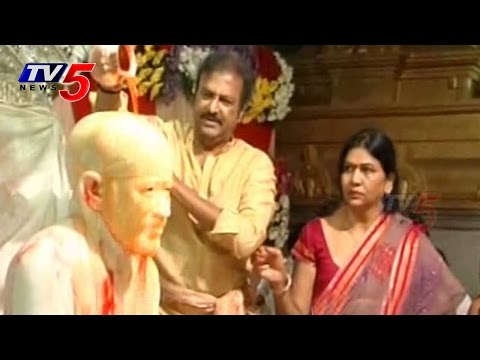 Actor Mohanbabu 'Guru Purnima Special Pooja' in film nagar Temple : TV5 News