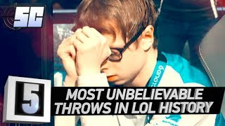 5 Most Unbelievable Throws in LoL History | LoL eSports