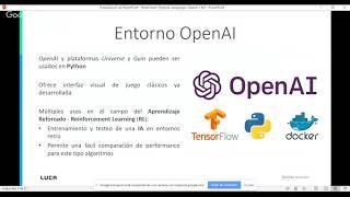 LUCA Talk 15: Domina los videojuegos clásicos con OpenAI y Machine Learning