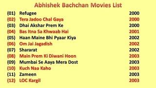 Abhishek Bachchan Movies List