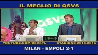 QSVS - I GOL DI MILAN-EMPOLI 2-1 TELELOMBARDIA / TOP CALCIO 24