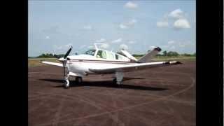 Acionamento e Decolagem Beechcraft Bonanza V35