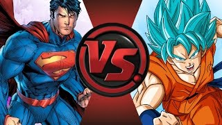 NEW 52 SUPERMAN vs GOKU! SUDDEN DEATH! Cartoon Fight Club Episode 44