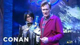 Conan Visits E3 To Check Out Playstation 4 & XBox One
