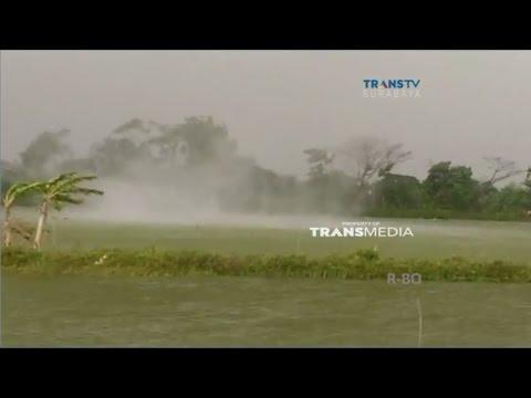 Detik-detik Kemunculan Angin Puting Beliung Terekam Kamera Warga