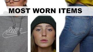 Most worn items // December 2016