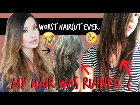 THE WORST HAIRCUT FAIL EVER | My Hair Got Butchered :(