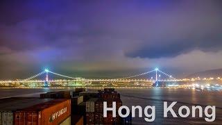 MEGA CONTAINER SHIP passing Hong Kong to China - 4K Timelapse | Life at Sea
