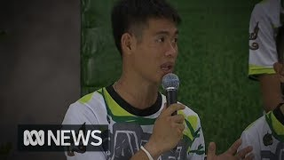 Boys trapped in Thai cave talk about moment of joy when rescue divers arrived