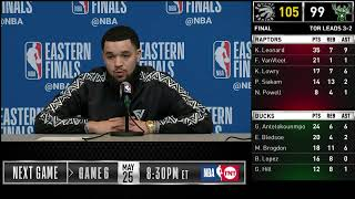 Fred VanVleet Press Conference | Eastern Conference Finals Game 5