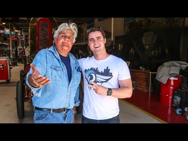 JAY LENO GAVE ME A TOUR OF HIS GARAGE!!!