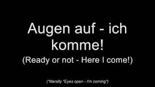 Oomph! - Augen auf! (Lyrics w/ English Translation)