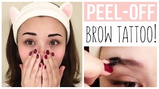 💖PEEL-OFF Eyebrow Tattoo?!   Etude House Product Review