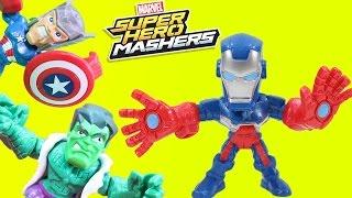 Marvel Super Hero Masher Micro Iron Patriot & Avengers Halloween Haunted House!