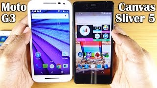 Micromax Canvas Sliver 5 Vs Moto G 3rd Gen (ft. iPhone 6)