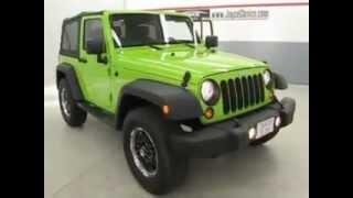 2012 Jeep Wrangler Sport Green G12160A Cream Puff Used Car Joyce Buick GMC of Mansfield Ohio