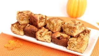 Pumpkin Swirl Blondies Recipe - Laura Vitale - Laura in the Kitchen Episode 656