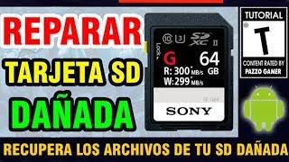 💻COMO REPARAR TARJETA SD DAÑADA | RECUPERAR ARCHIVOS DE TARJETA MICRO SD🛠️ ANDROID | FUNCIONA 100%