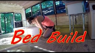 Building Bed Frame Pt1 & War Wound in the Tiny House On Wheels