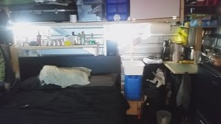 Living out of a storage locker for 2 months, in style!
