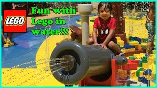 Ryan plays with giant lego at Legoland Discovery Center!