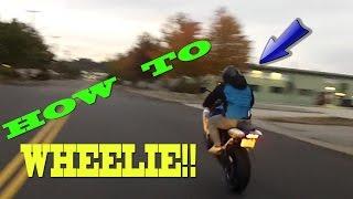 Gixxer 600 Wheely (Beginner How To)