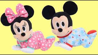 Disney Minnie & Mickey Mouse Musical Crawling Pals with Sound, Toy Surprises