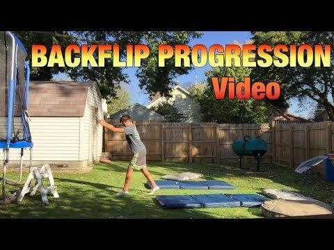 Backflip Progression Video 4 DAYS