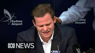 Steve Smith breaks down during ball tampering press conference