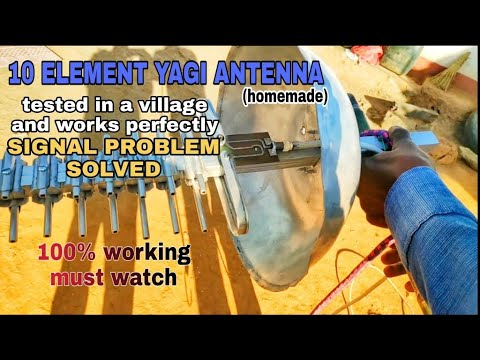 Xxx Mp4 10 Element Yagi Antenna For Cellular Networks 2g 3g 4g Works Pretty Well In No Network Area 3gp Sex
