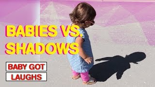 Babies Discover Their Shadows For the First Time   Amazing Baby Reactions!