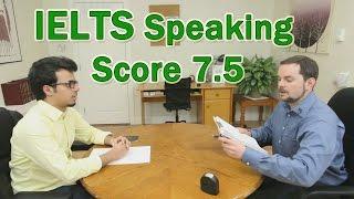 IELTS Speaking Example Arabic Learner Score 7.5