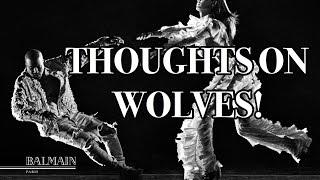 wolves by kanye  balmain reaction
