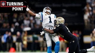 Cam Newton's Comeback Attempt Falls Short to Saints Pressure Defense (Wild Card)   NFL Turning Point