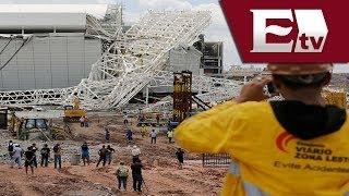 Derrumbe de Estadio de apertura en el Mundial Brasil 2014/Excélsior Informa