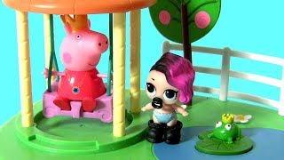 Bonecas LOL no Balanço da Princesinha Peppa Pig TOYSBR   LOL Lil Outrageous Littles Surprise Dolls