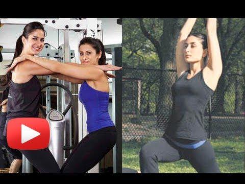 Kareena Kapoor, Katrina Kaif Working Out At the Gym