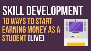 10 Ways to Start Earning Money as a Student [LIVE] | Ayman Sadiq