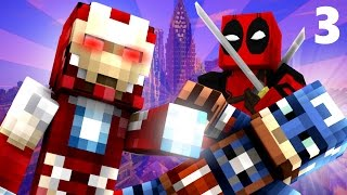 Deadpool: CAPTAIN AMERICA Civil War! Part 3: AVENGERS? (Minecraft Roleplay) S2E3