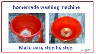 How to make powerful washing machine at home - diy electric washing machine