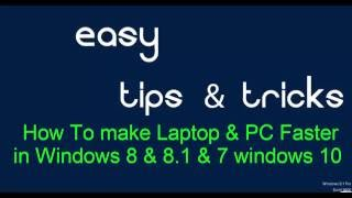 How To make Laptop And PC Faster In Two minutes | Easy Tips and Tricks | Run Command