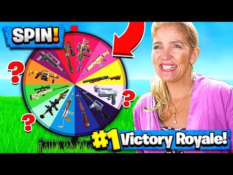 MOM SPIN THE WHEEL WEAPONS CHALLENGE in FORTNITE